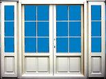 openslaande deur 2800x2200 met borstwering en ruitverdeling