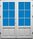 openslaande deur 1800x2200 met borstwering en ruitverdeling